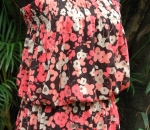 red floral tube tunic